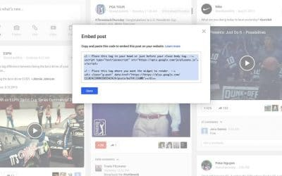 Google+ Introduces Embedded Posts